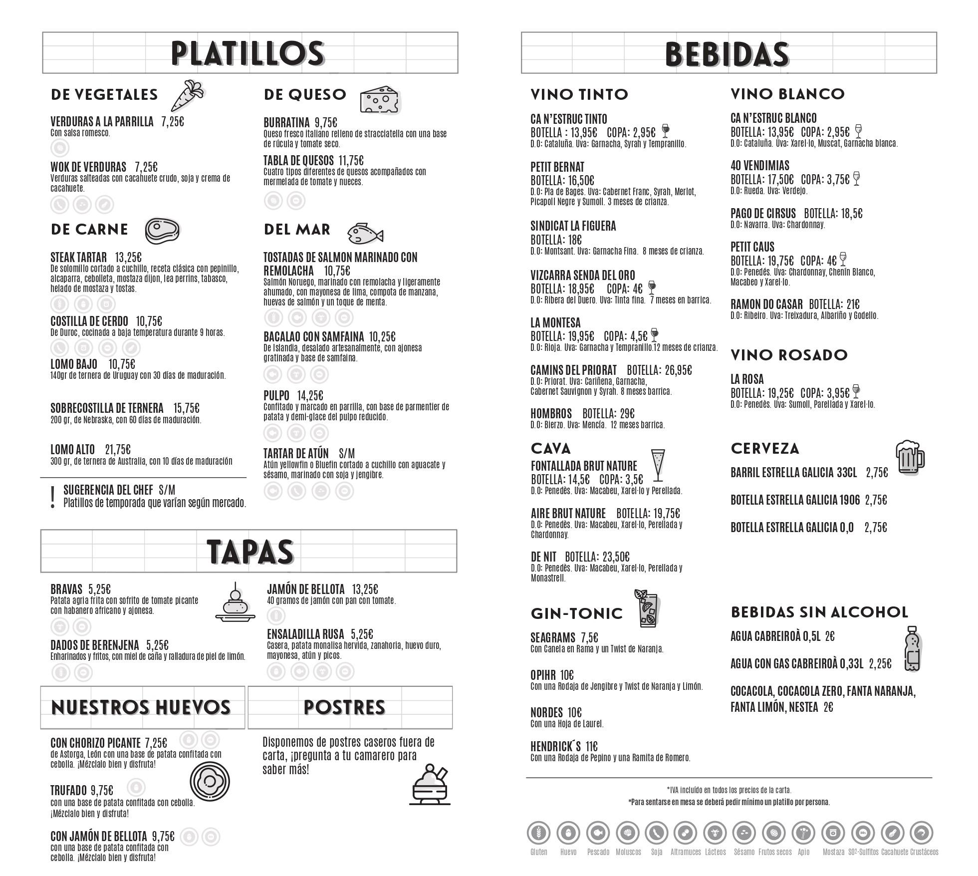La Gastronomica Barcelona carta